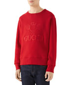 Gucci Men's Club Tonal Logo Sweatshirt