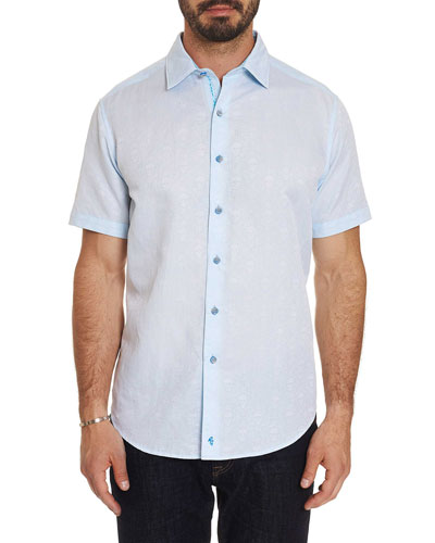 Men's Temple of Skull Short-Sleeve Sport Shirt