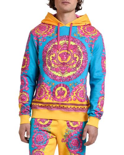 Men's Neon Baroque Pullover Hoodie
