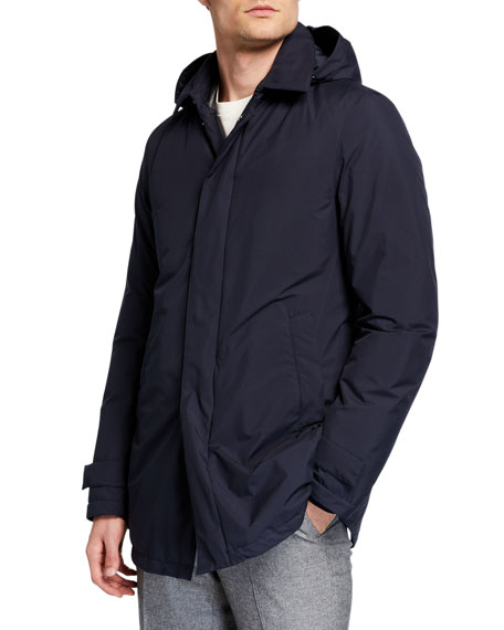 Herno Men's City Water-Resistant Trench Coat