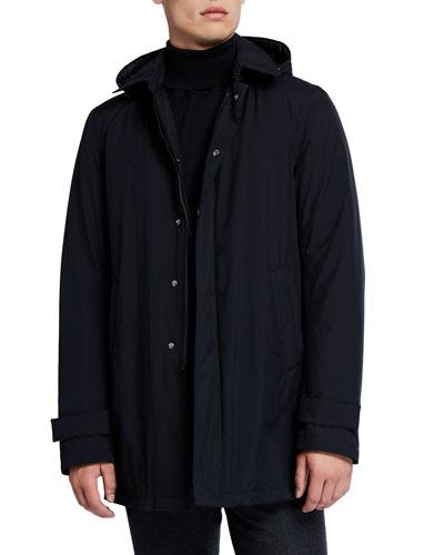 Men's City Solid Trench Coat