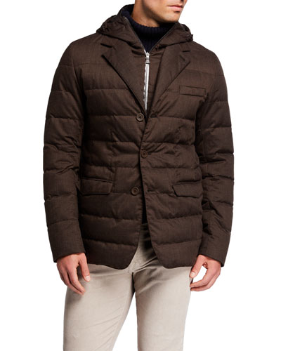 Men's Techno-Wool Puffer Jacket