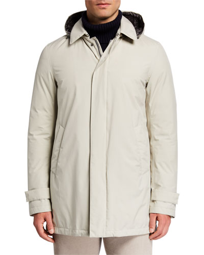 Men's Hooded City Trench Coat
