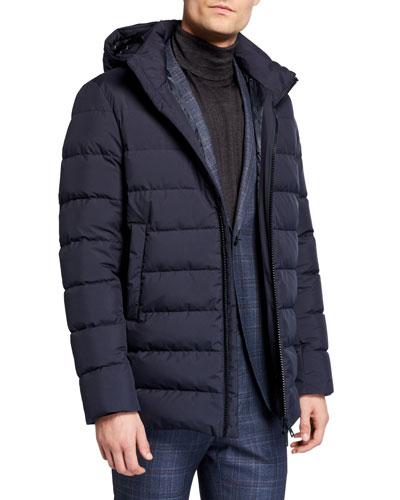 Men's Wind-Resistant Puffer Coat