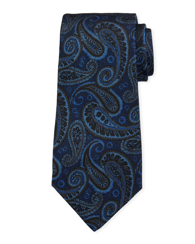 Men's Tonal Paisley Silk Tie