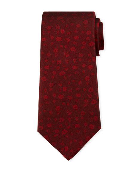 Kiton Men's Tonal Mini-Floral Silk Tie