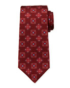 Kiton Men's Alternating Boxes Silk Tie