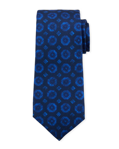 Kiton Men's Octagons Silk Tie