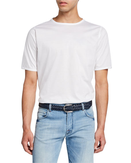 Kiton Men's Short-Sleeve Crewneck Cotton T-Shirt