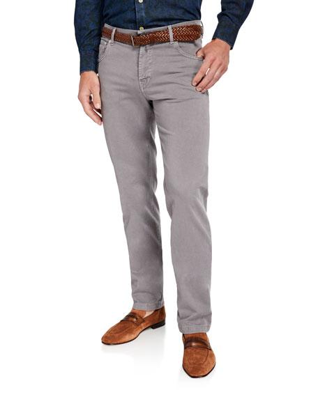 Kiton Men's Twill Straight-Leg Pants