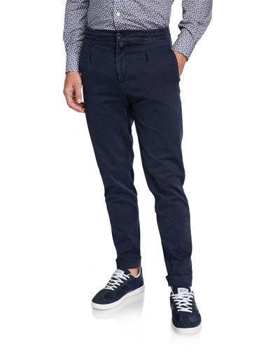 Men's Drawstring Twill Pants