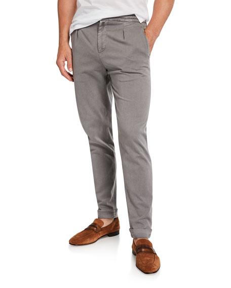 Kiton Men's Drawstring Twill Pants