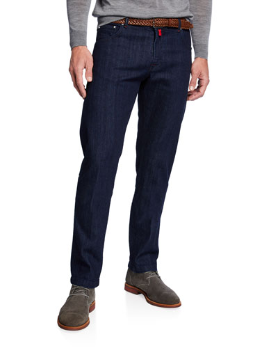Men's Dark-Wash Slim-Leg Jeans