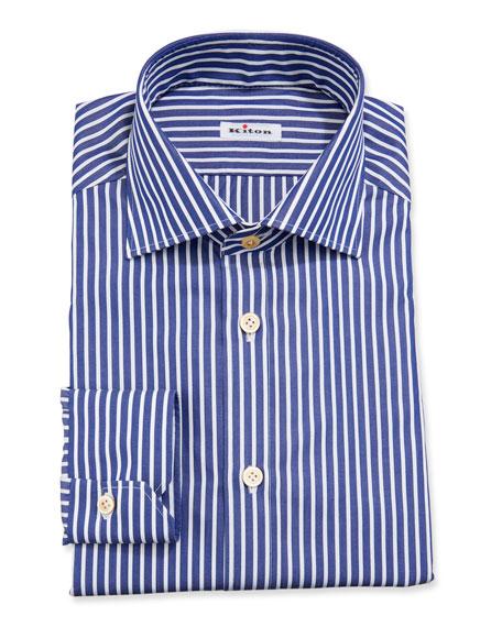 Kiton Bengal-Stripe Dress Shirt