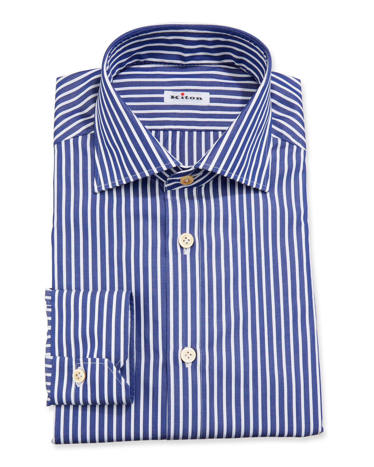 Kiton Dresses BENGAL-STRIPE DRESS SHIRT
