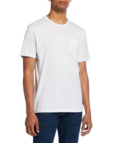 Men's Washed Cotton Pocket T-Shirt, White