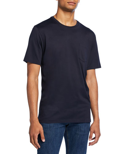 Men's Washed Cotton Pocket T-Shirt, Navy