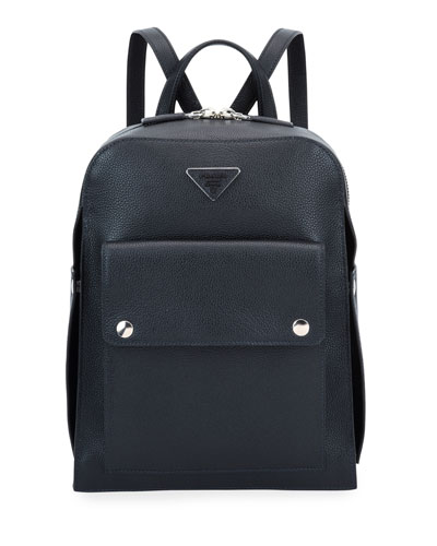 Men's Medium Soft Leather Backpack