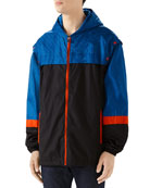 Gucci Men's Colorblocked Nylon Wind-Resistant Jacket