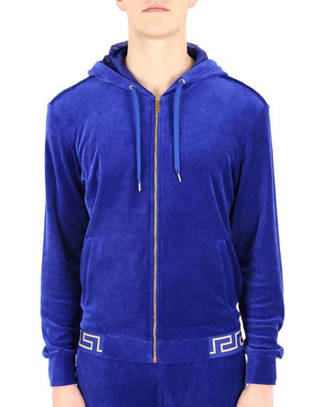 Versace Men's Greek Key Gym Jacket