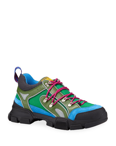 Men's Flashtrek Mixed-Media Colorblock Sneakers