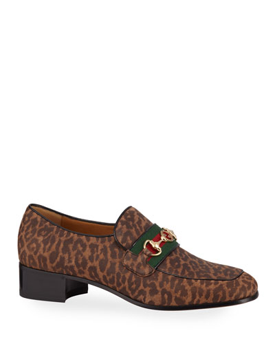 Men's Aylen Leopard-Print Suede Slip-On Loafers