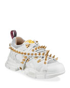 Gucci Men's Flashtrek Sneakers with Removable Spikes