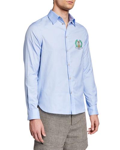Men's Crest Long-Sleeve Sport Shirt