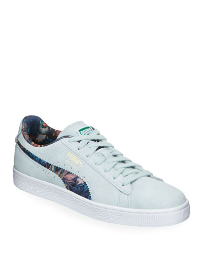 Men's Secret Garden Suede Low-Top Sneakers