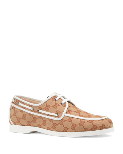 Men's GG Canvas Vintage Boat Shoe