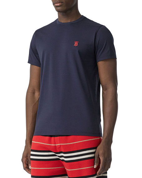 Burberry Men's Parker Logo-Embroidered T-Shirt