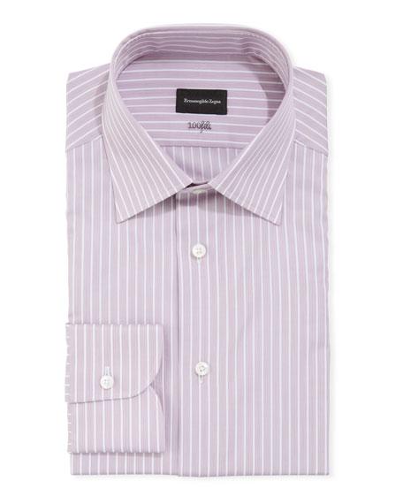 Ermenegildo Zegna Men's 100fili Striped Cotton Regular-Fit Dress Shirt