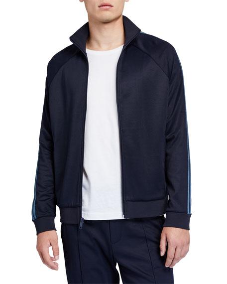Vince Men's Elevated Side-Stripe Track Jacket