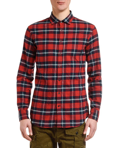 de44d3f55618 Quick Look. Dsquared2 · Men's Plaid Flannel Sport Shirt. Available in Red
