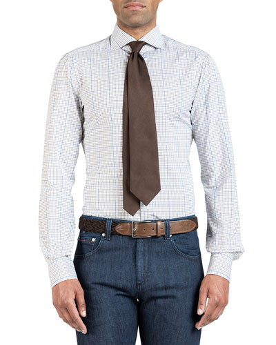 Men's Two-Tone Check Dress Shirt