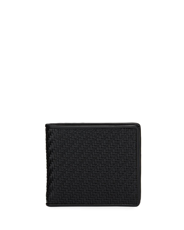 Men's Pelle Tessuta Bifold Wallet