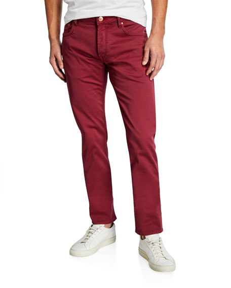 Hand Picked Men's 6-Pocket Stretch-Gabardine Pants