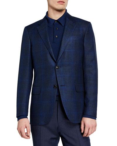Men's Cashmere Plaid Sport Coat