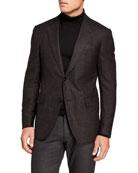 Ermenegildo Zegna Men's Wool/Silk Hopsack Blazer