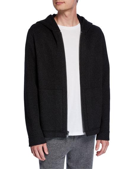 Vince Men's Zip-Front Cashmere Hoodie Jacket