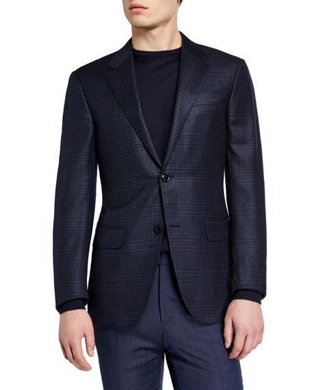 Ermenegildo Zegna Men's Tonal Large Plaid Regular-Fit Blazer