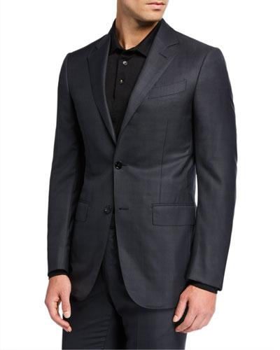 Men's 15milmil15 Tonal Plaid Two-Button Suit