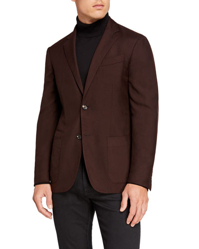 Men's Cashmere/Silk Two-Button Jacket