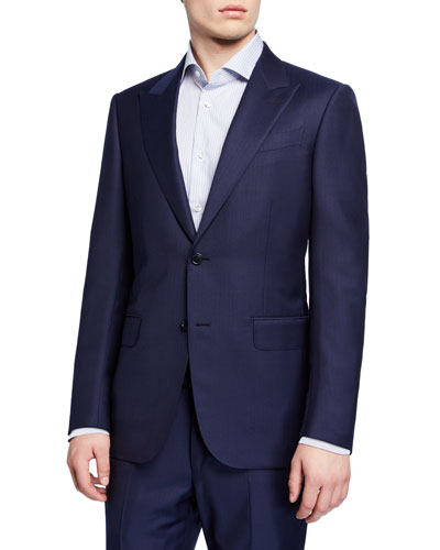 Men's Tonal Stripe Two-Piece Suit