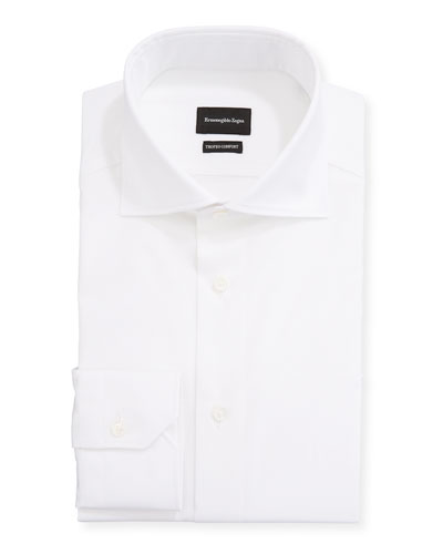 Men's Milano Fit Solid Trofeo Comfort Cotton Dress Shirt