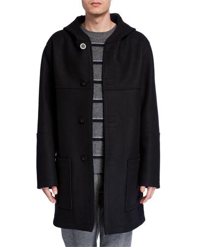Men's Hooded Wool Duffle Coat