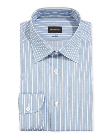 Ermenegildo Zegna Men's 100fili Large Stripes Regular-Fit Dress Shirt