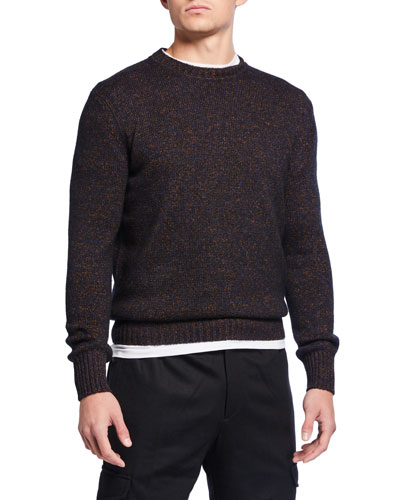Men's Heathered Crewneck Sweater