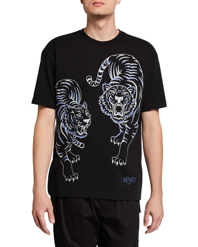 Men's Double Tiger Graphic T-Shirt