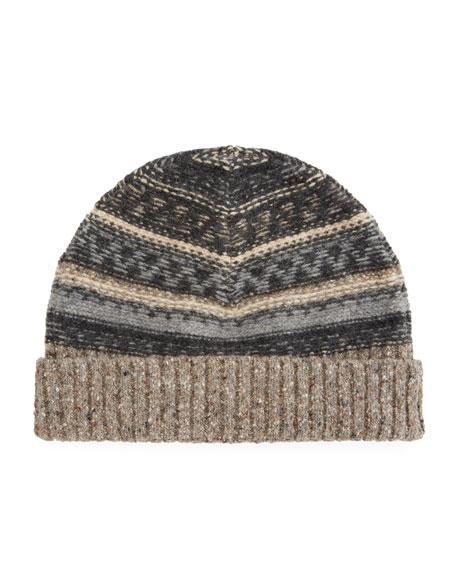 Vince Men's Fair Isle Wool Beanie Hat